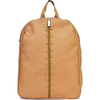 Bizarre Vogue Stylish Backpack For Girls (Tan)
