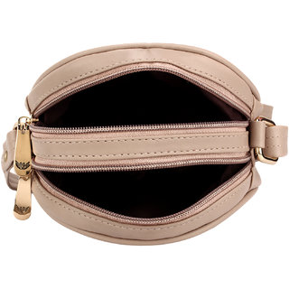 98c6cbc241 BumBart Collection Artificial Leather Material Cream Colored Sling Bag /  Side Bag