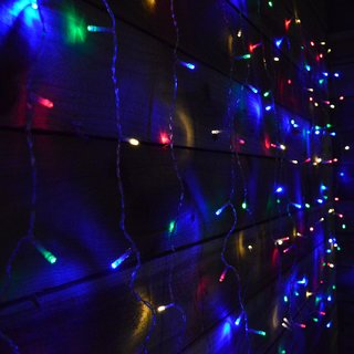 Ever Forever Water Fall Mode LED Curtain String Lights Multi