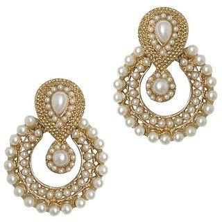 YouBella Designer Traditional Pearl Earrings