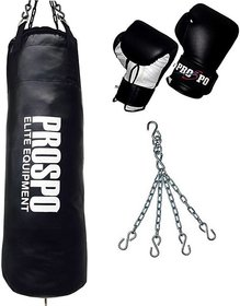 Prospo 30 Hard and Strong punching with hanging chain and gloves