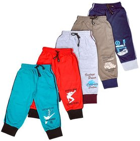 ALFISHER Boys Full Pant with bottom cuff (Pack of 5)
