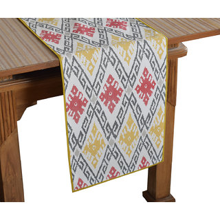Bilberry Furnishing By Preeti Grover 100 Cotton Multicolor Printed Table Runner (TR04) - (Table Runner Size 14x72)