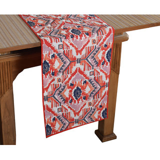 Bilberry Furnishing By Preeti Grover 100 Cotton Multicolor Printed Table Runner (TR15) - (Table Runner Size 14x36)