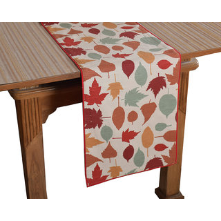 Bilberry Furnishing By Preeti Grover 100 Cotton Multicolored Elegant Printed Table Runner (TR16) - (Table Runner Size 14x36)