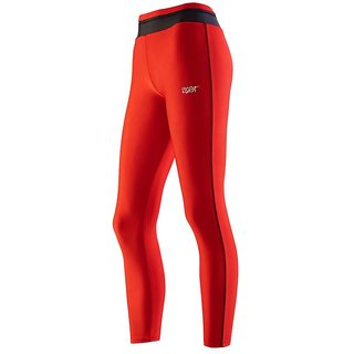 Lycot Womens Lycra Compression Leggings & Stretchable Gym Yoga Pant (Size: S  Color: Red)