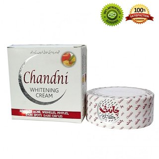 Chandni Whitening Cream To Remove Acne, Pimples, Dark Spots Fresh Pack 30g