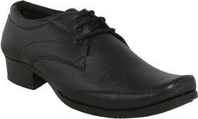 Wonsar Men's Black Synthetic Leather Lace Up Formal Sho