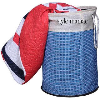 Style Maniac Presents Set of 1 Jute Storage Bag / Laundry Basket.