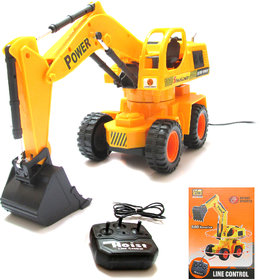 Wired RC Battery Operated JCB Crane Rotating Truck Toys CAR, Battery Vehicle