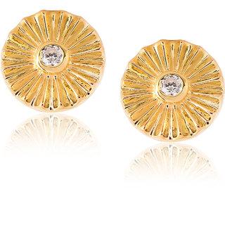 Be You Mesmerizing Cubic Zirconia Designer Look 92.5 Sterling Silver Flower Shape Stud for Women