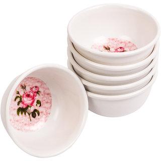 Czar Veg Bowl 6 Pcs White Rose flower