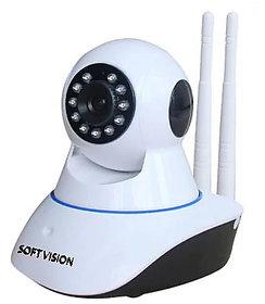 Indoor CCTV Home Security P2P WiFi IP Camera (White)