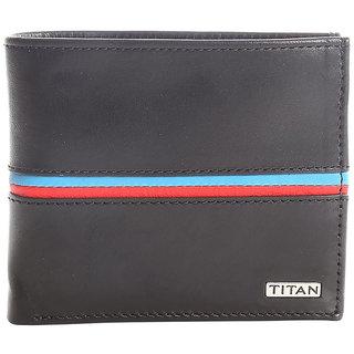 Titan Mens Black Wallet
