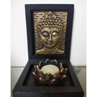 Buddha Idol with Tray and Diyas