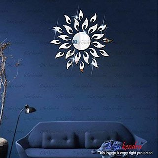 Bikri Kendra - Sun Silver - 3D Acrylic Mirror Wall Stickers - B07DNFLPPB
