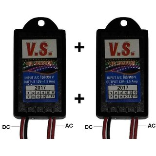 2 Pcs LED Strip Light Adapter/ Driver, LED Driver AC 100-240 V to DC 12V 1Amp