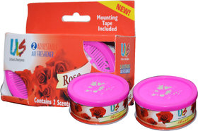 Lucky Traders  Air Freshner Rose Scented Gel Car Perfume for Car Home Office (Set of 3)