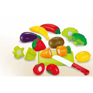 12 Pcs Fruits and Vegetables Cutting Play Toy Set by BGC