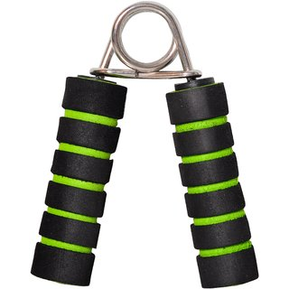 SVR Power Grip in Green Black for All Age Groups - Pack of 1 Hand Size PVC With Superior Quality Foam