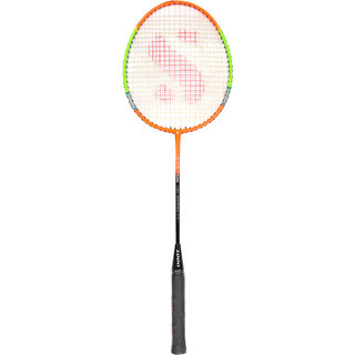 SVR Badminton Racquet in Multicolour for All Age Groups - Pack of 1 Standard Size High Tempered Steel