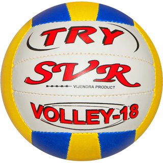 SVR Volleyball in Multicolour for All Age Groups - Pack of 1 Size 4 Synthetic