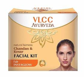 VLCC Ayurveda Natural Fairness Chandan and Kesar Facial Kit- 50g