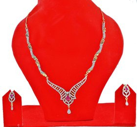 American Diamond Necklace And Earring Sets