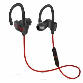 QC10 Bluetooth Headset, Stereo Sound Sweat Proof Earphones with Mic and Ear Hook Bluetooth Headset