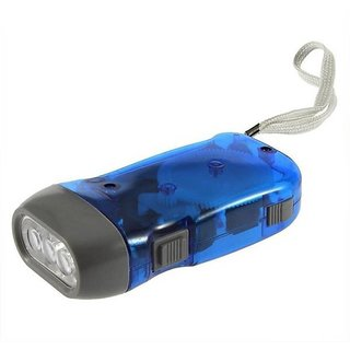 Hand pressing flash light Torch (Multicolor Rechargeable) (Pack of 1)