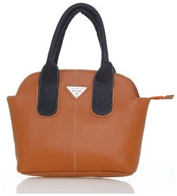 Lady Queen Brown Faux Leather Shoulder Bag 3bf0ab3efd731