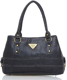 Lady Queen Gray Faux Leather Shoulder Bag