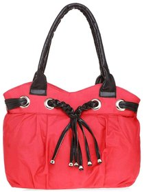 Lady Queen Pink Fabric Shoulder Bag