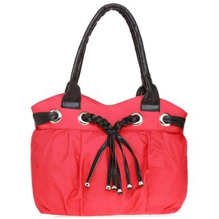 Lady Queen Pink Fabric Shoulder Bag