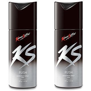 Ks 2 Rush deo 150ml each For Men Pack of 2