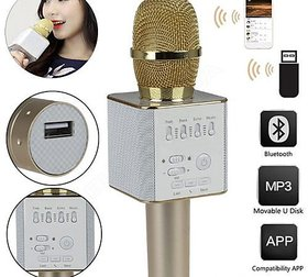 Best Quality Handheld Mic With Bluetooth Speaker For Singing Music