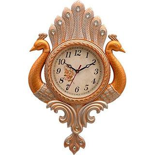 Shopever Peacock Pendulum Wall Clock , Wall Watch , Wall Decor ( antique - Gold )