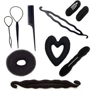 gulzar Hair Styling Tool Kit / Hair Accessories / 10 Pcs Combo