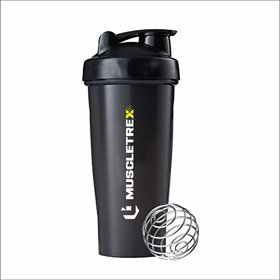 Muscletrex Protein Shaker - 650ml, Black
