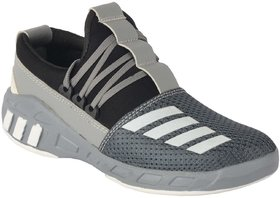 Port Men's Grey Mesh Casual Shoes