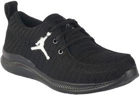 Port Men's Black Mesh Casual Shoes