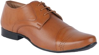 Port Men's Brown Synthetic Derby Formal Shoes