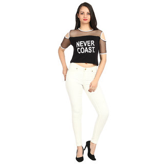 b48ccd4f0df98 Buy Raabta Black NEVER COAST Cold Shoulder Top Online - Get 20% Off