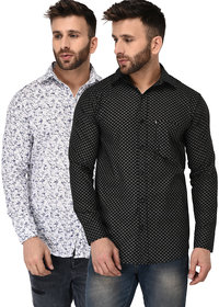 London Looks Men's Casual Shirts (Pack of 2 Shirts)