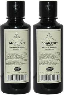 Khadi Pure Herbal Shikakai Shampoo - 210ml (Set of 2)