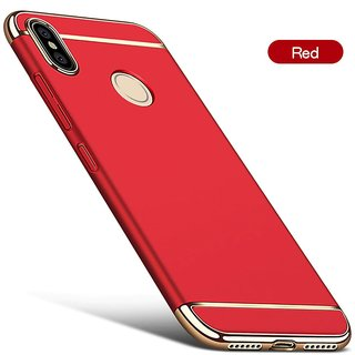 Buy 3 in 1 Full Body Slim Fit Joy Room Hybrid Hard Back Cover for Xiaomi Redmi 6 Pro - Red Online - Get 60% Off