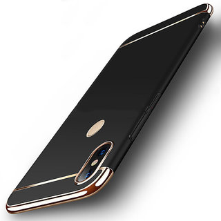 3 in 1 Full Body Slim Fit Joy Room Hybrid Hard Back Cover for Xiaomi Mi A2 - Black