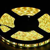12V Flexible LED Strip Lights, LED Tape, Warm White, IP65 Waterproof, 300 Units 3528 LEDs, Light Strips, 5 Meters  16.4 Feet