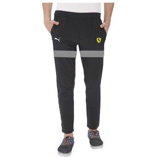 ced783d40038 Buy Puma Black Polyester Lycra Track pants Online - Get 85% Off