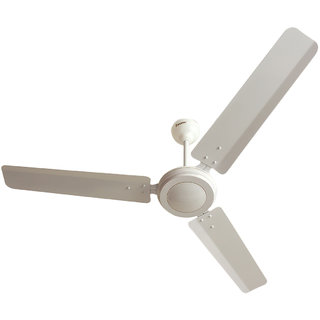 CROWN Magikool Deluxe 1200mm Ceiling Fan ISI Marked BEE 5 Star Rating (Cream)